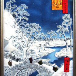 вышивка, лоскутное шитье, петчворк, арт квилтинг, зима, Андо Хиросигэ, embrodiery, art petchwork, Ando Hirosige, winter