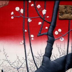 Anna Potri Kameido Plum Orchard embrodiery art quilt, embrodiery art, вышивка, лоскутное шитье, арт квилт, картина из лоскутов.