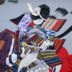 Japanese art, Anna Potri The Battle of Avadzu embrodiery art quilt, embrodiery art, вышивка, лоскутное шитье, арт квилт, Битва при Авадзу картина из лоскутов