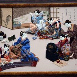 AnnaPotri - Geishas waiting for guests картина Анна Потри - Гейши в ожидании гостей