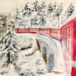 Red train to the dream Anna Potri